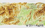 Physical Panoramic Map of Sayaboury