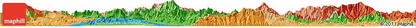 Political Shades Horizon Map of Vientiane 2