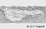 Gray Panoramic Map of Vientiane 2