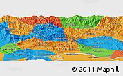 Political Panoramic Map of Vientiane 2