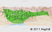 Political Shades Panoramic Map of Vientiane 2, lighten