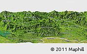 Satellite Panoramic Map of Vientiane 2