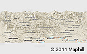Shaded Relief Panoramic Map of Vientiane 2