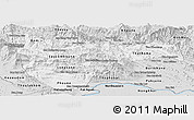 Silver Style Panoramic Map of Vientiane 2