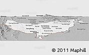 Gray Panoramic Map of Vientiane (Munic.)