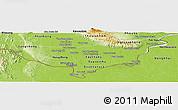 Physical Panoramic Map of Vientiane (Munic.)