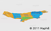 Political Panoramic Map of Vientiane (Munic.), cropped outside