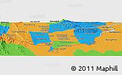 Political Panoramic Map of Vientiane (Munic.)