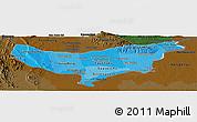 Political Shades Panoramic Map of Vientiane (Munic.), darken