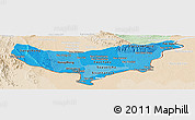 Political Shades Panoramic Map of Vientiane (Munic.), lighten