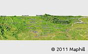 Satellite Panoramic Map of Vientiane (Munic.)