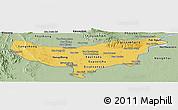 Savanna Style Panoramic Map of Vientiane (Munic.)