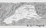 Gray Panoramic Map of Vientiane