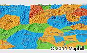 Political Panoramic Map of Vientiane