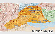 Political Shades Panoramic Map of Vientiane, lighten