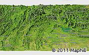 Satellite Panoramic Map of Vientiane