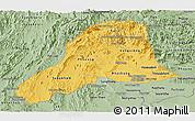 Savanna Style Panoramic Map of Vientiane