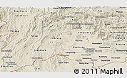 Shaded Relief Panoramic Map of Vientiane