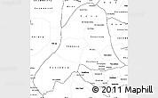 Blank Simple Map of Vientiane
