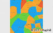 Political Simple Map of Vientiane