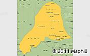 Savanna Style Simple Map of Vientiane