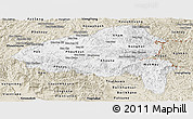 Classic Style Panoramic Map of Xiangkhouang