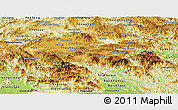 Physical Panoramic Map of Xiangkhouang