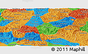 Political Panoramic Map of Xiangkhouang