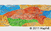 Political Shades Panoramic Map of Xiangkhouang