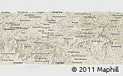 Shaded Relief Panoramic Map of Xiangkhouang