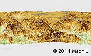 Physical Panoramic Map of Phaxay