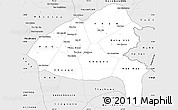 Silver Style Simple Map of Xiangkhouang