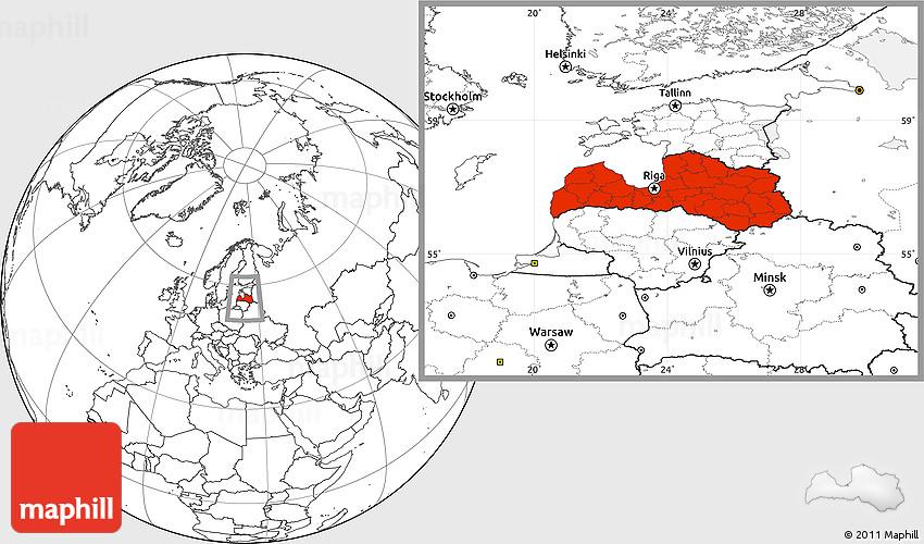 Blank location map of latvia 2d publicscrutiny Gallery