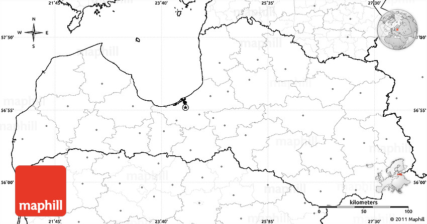 Blank simple map of latvia no labels 2d publicscrutiny Gallery