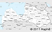 Silver Style Simple Map of Latvia