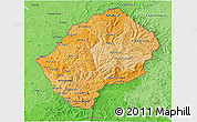 Political Shades 3D Map of Lesotho