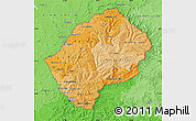 Political Shades Map of Lesotho