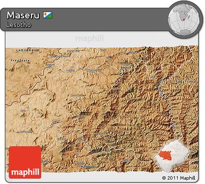 Maseru Lesotho Map Satellite 3d Map of Maseru