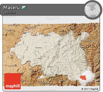 Maseru Lesotho Map Map of Maseru Satellite
