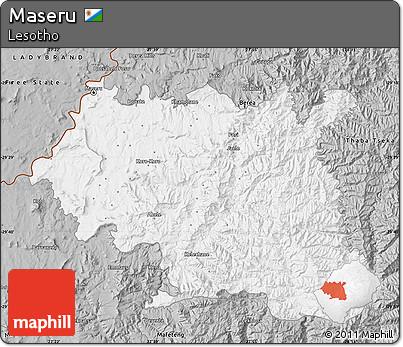 Maseru Lesotho Map Gray Map of Maseru · Gray Map