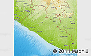 Physical 3D Map of Liberia
