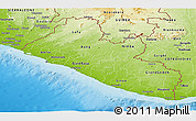 Physical Panoramic Map of Liberia