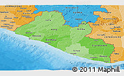 Political Shades Panoramic Map of Liberia