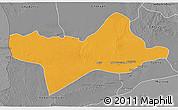 Political 3D Map of Ash Shati, desaturated
