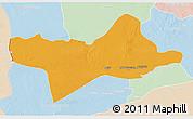 Political 3D Map of Ash Shati, lighten