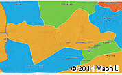 Political 3D Map of Ash Shati