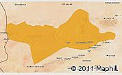 Political 3D Map of Ash Shati, satellite outside