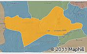 Political 3D Map of Ash Shati, semi-desaturated