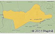 Savanna Style 3D Map of Ash Shati