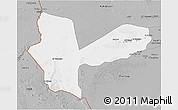 Gray 3D Map of Awbari (Ubari)